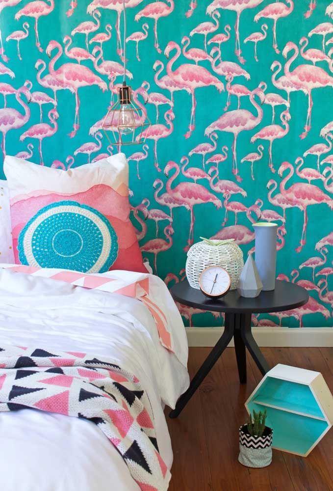 As cores azul tiffany e rosa são perfeitas para decorar o quarto de adolescente feminino.