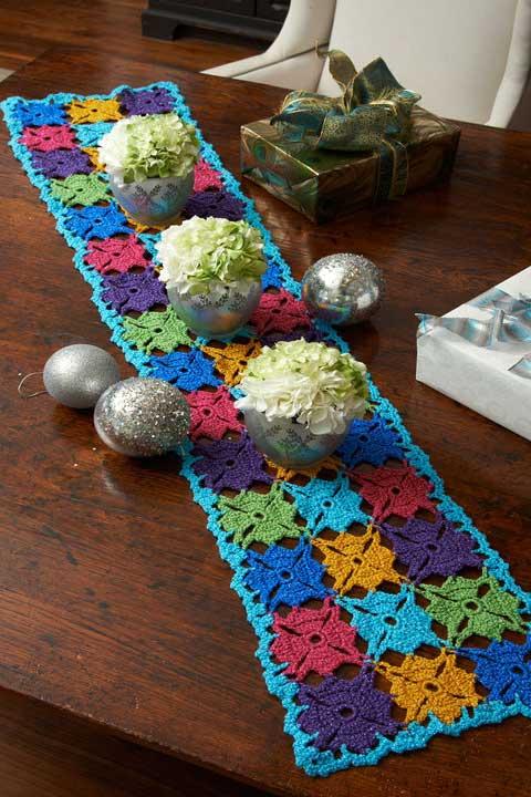 Caminho de mesa super colorido