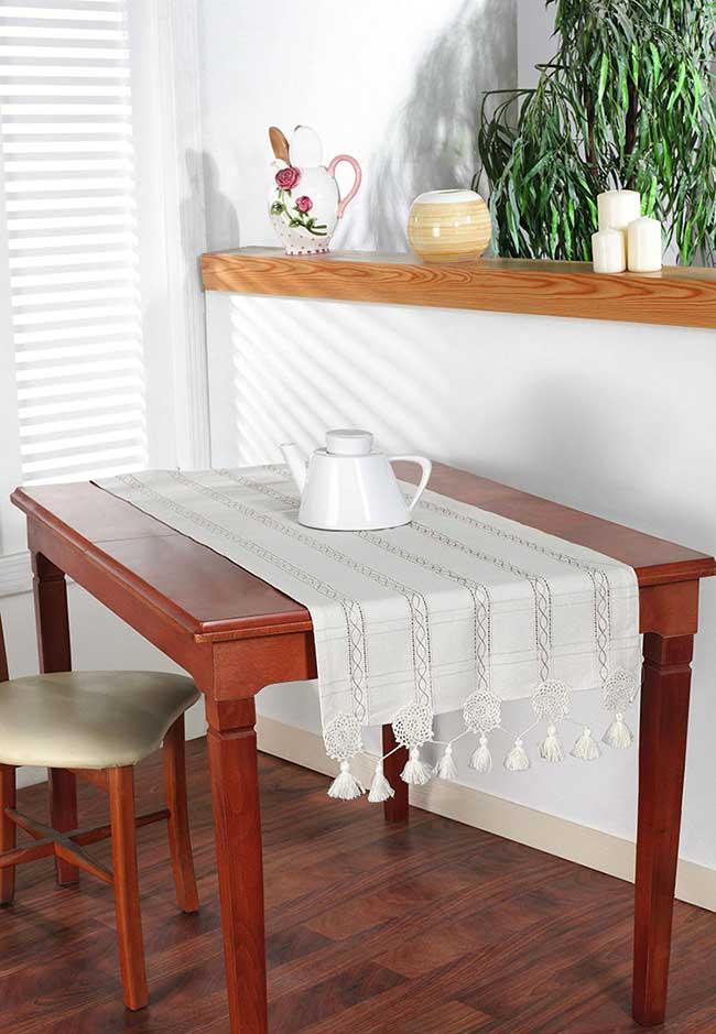 Toalha de mesa para centro de crochê