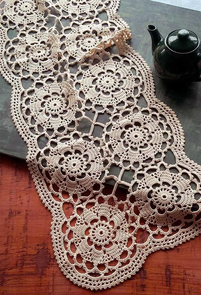 A delicadeza de uma peça trabalhada em crochê