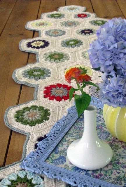 Todo o charme das flores de crochê