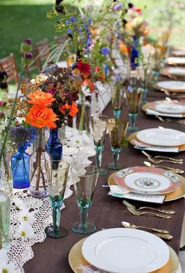 Caminho de mesa para casamento
