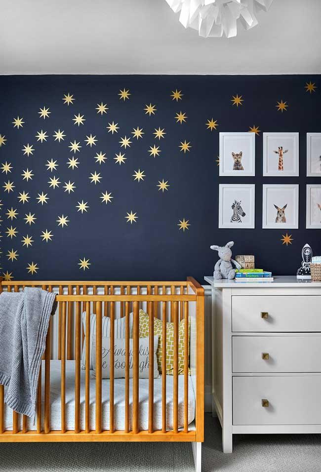 Um céu de estrelas no quarto do bebê