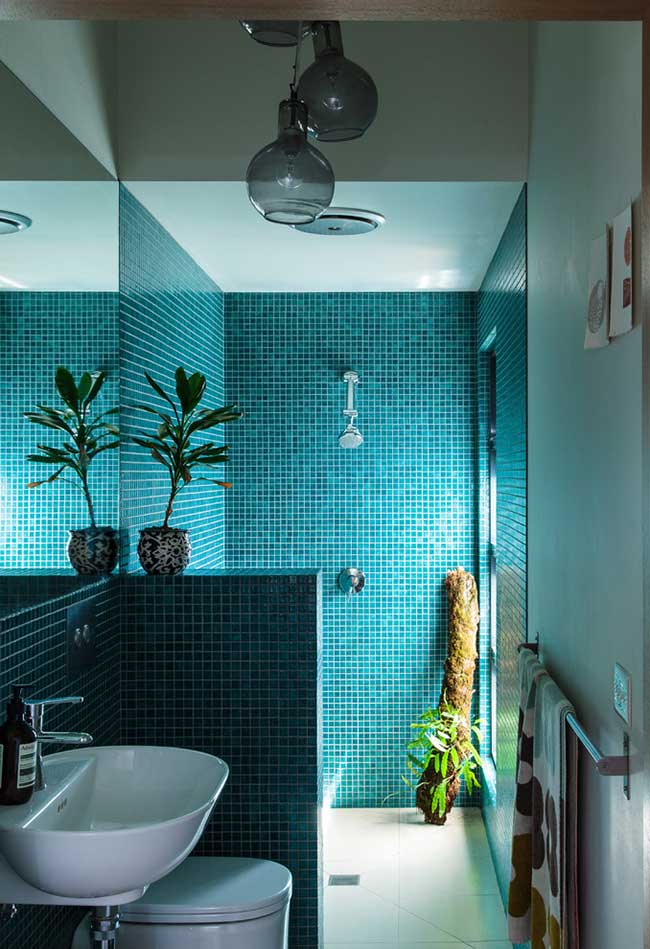 Uma cor bastante usada no banheiro também