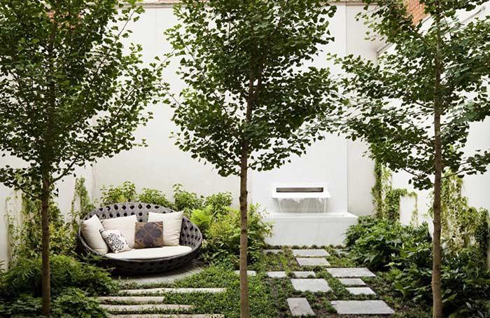 Aberturas de forma natural com árvores