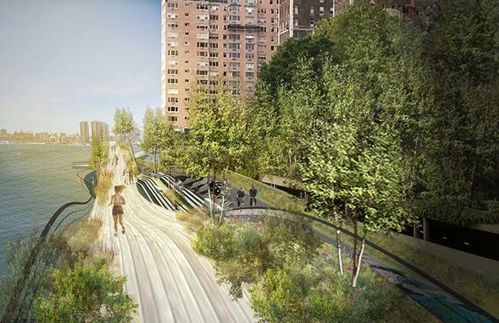 Paisagismo tomando conta do espaço urbano