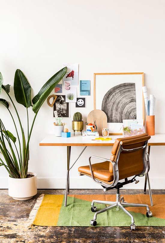 Mesa para decoração de home office