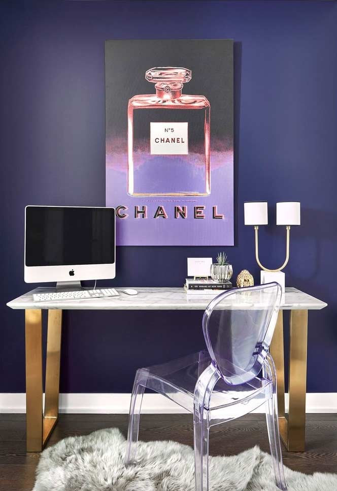 Home office para uma lady glam!