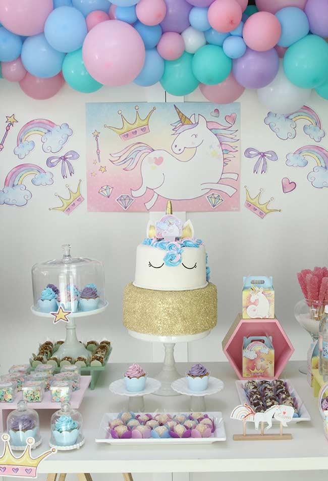 Festa Unicórnio 72 Ideias e Fotos de Decoraç u00e3o do Tema Mágico # Decoracao De Unicornio Infantil
