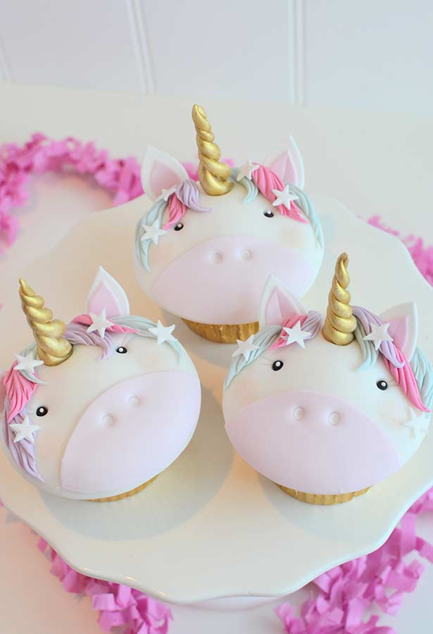 Cupcakes mágicos para festa unicórnio