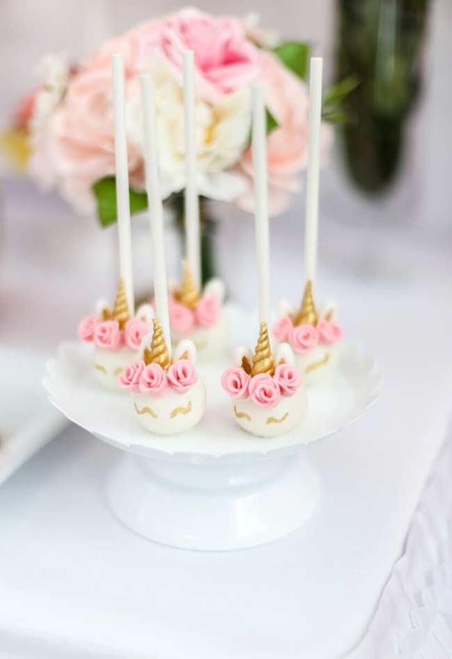 Os cakepops mais fofos deste mundo unicórnio