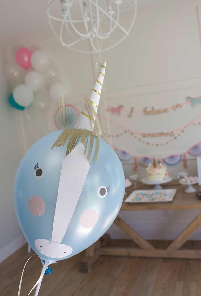 Balões para festa unicórnio