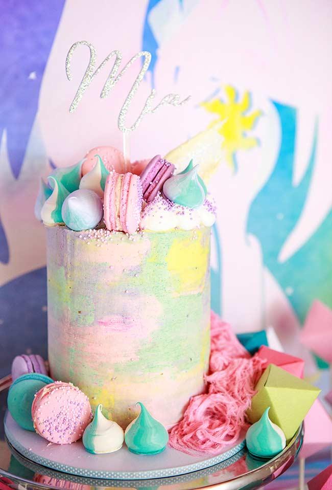 Candy colors, suspiro e macarons