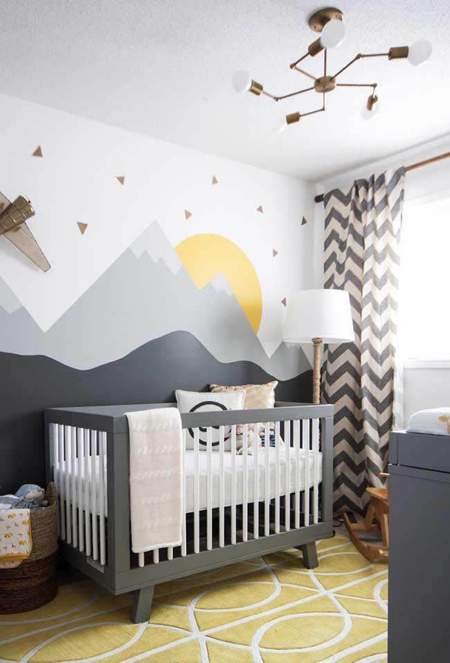 Ilustração no quarto de bebê pequeno