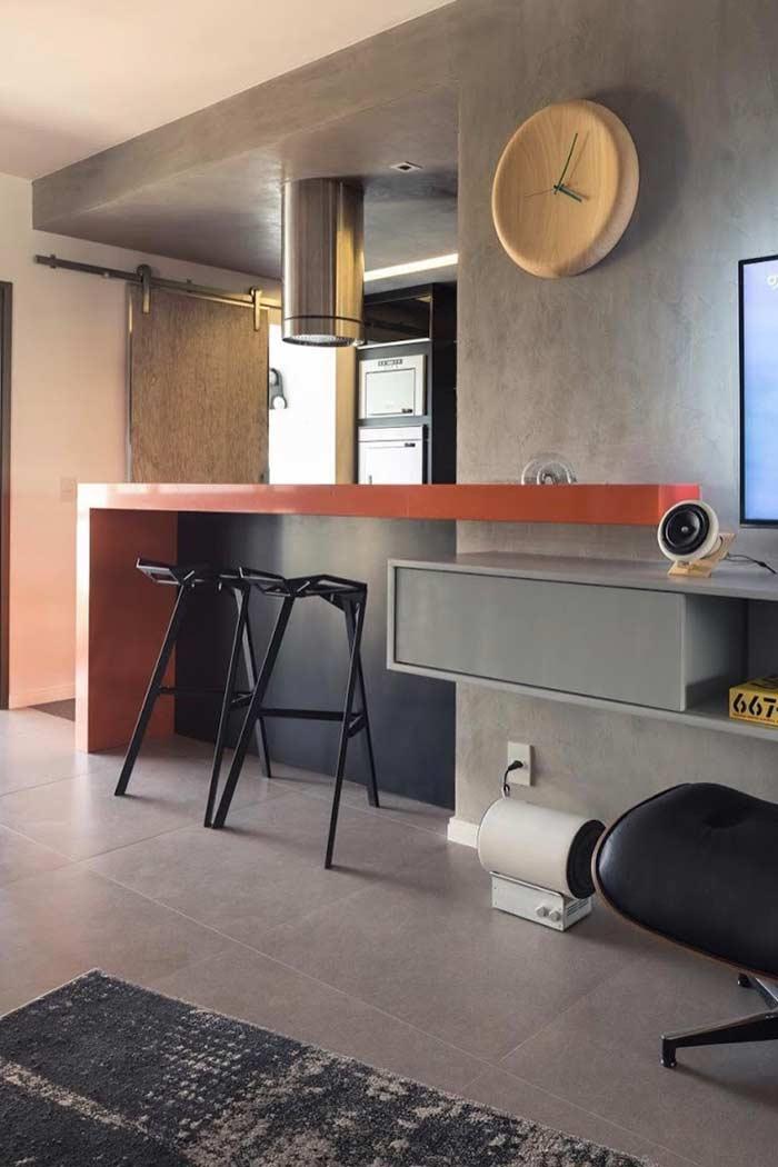 Decoração de apartamento no estilo loft