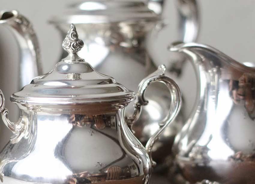 Objetos de prata / prataria