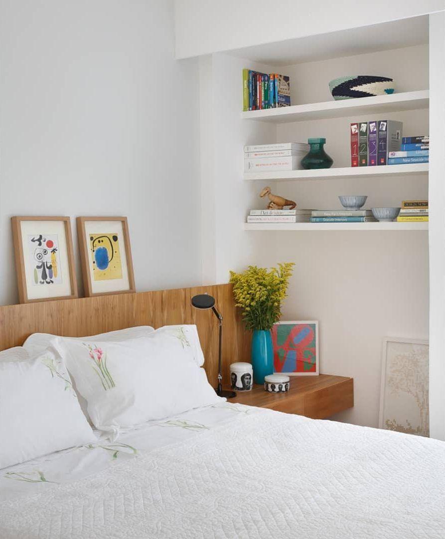 Objetos decorativos como destaque da decoração do quarto