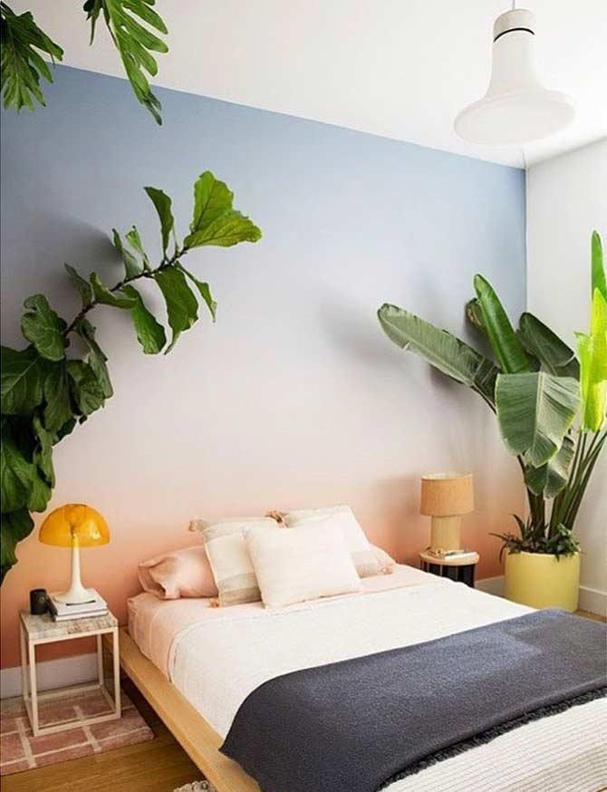 Decoração simples para quarto com clima de verão