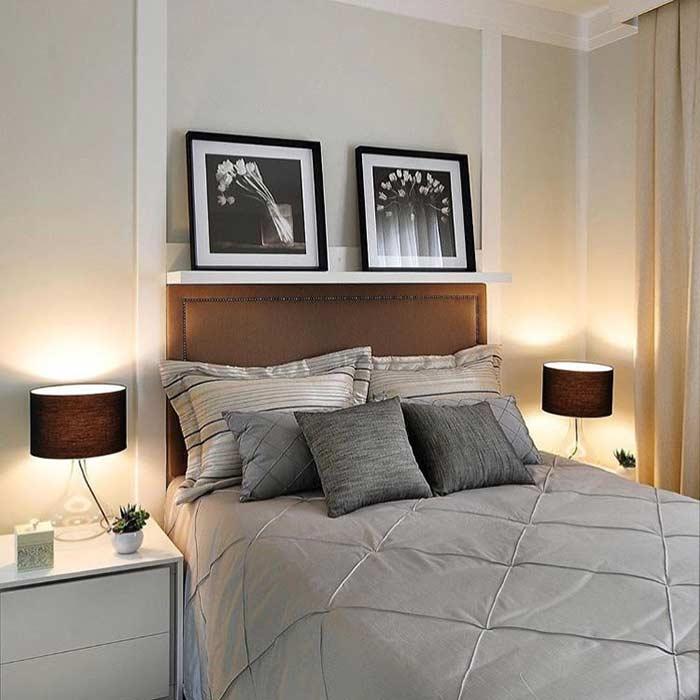 Um toque de marrom na decoração do quarto