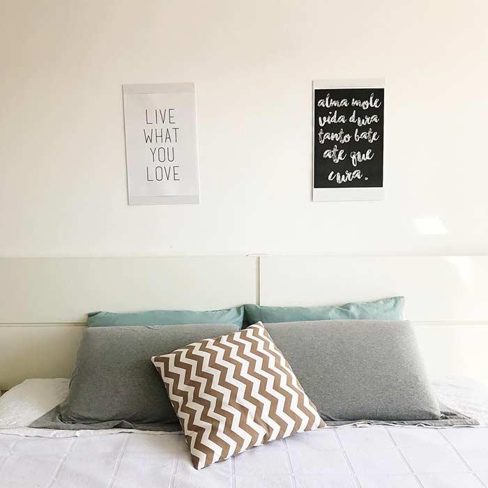 Recursos simples trazem personalidade ao quarto
