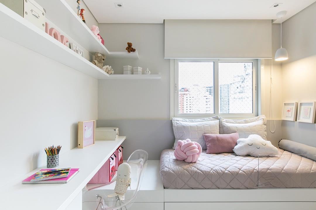 Charme e delicadeza na decoração do quarto feminino infantil