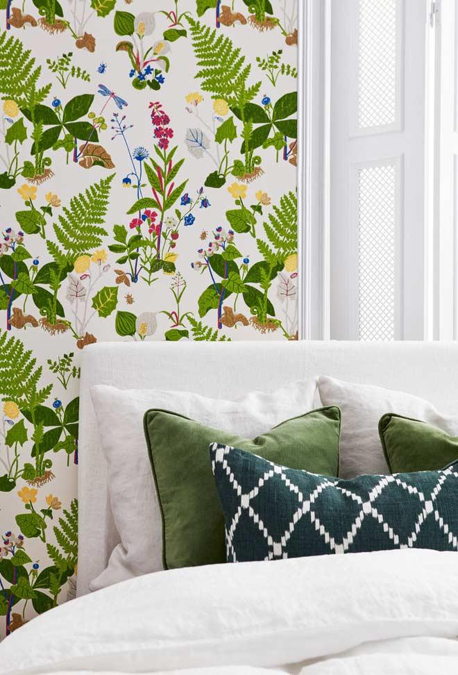 Procure o papel de parede ideal com tonalidades da cor verde