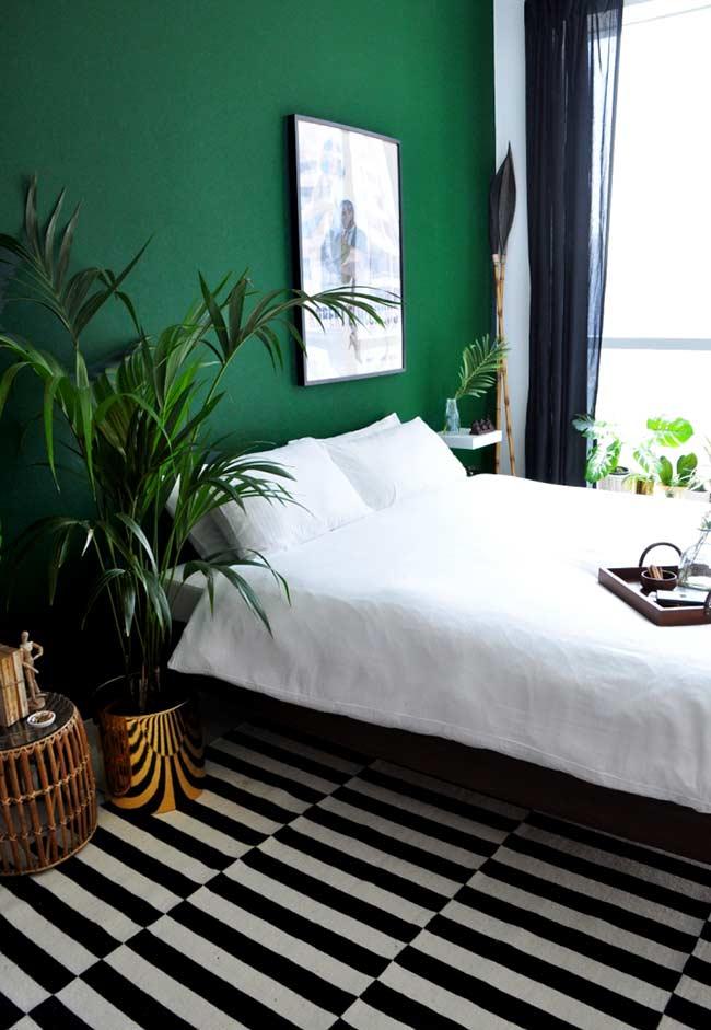 Urban jungle no quarto verde