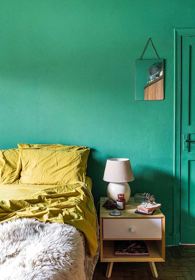 Quarto verde e amarelo