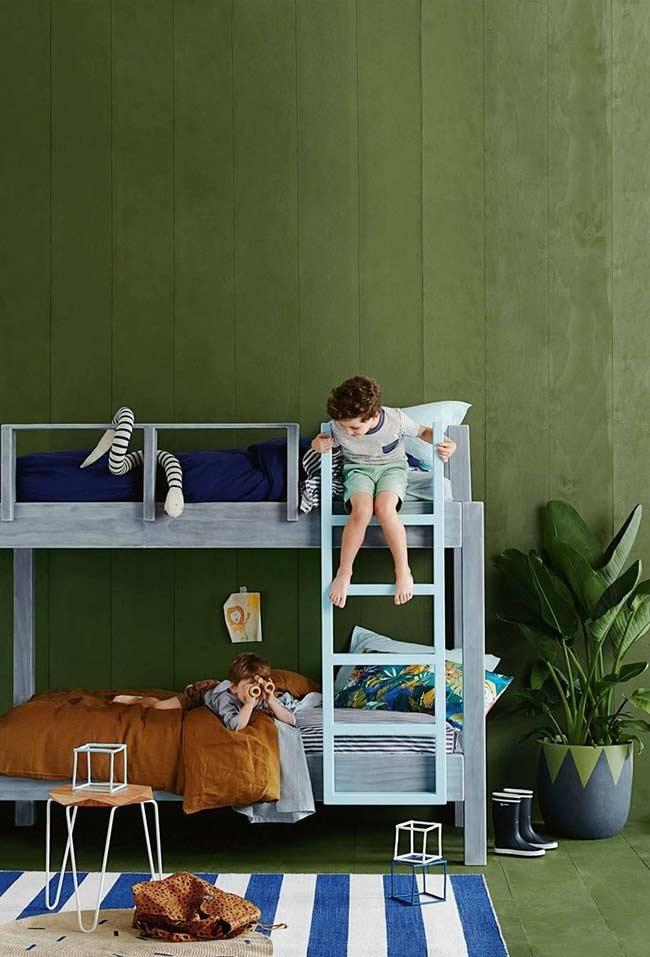 Verde musgo para o quarto infantil