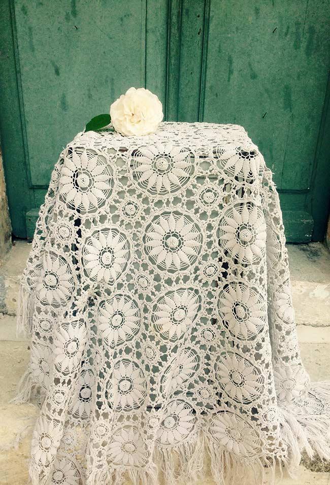 Toalha para móveis em decoração de casamento