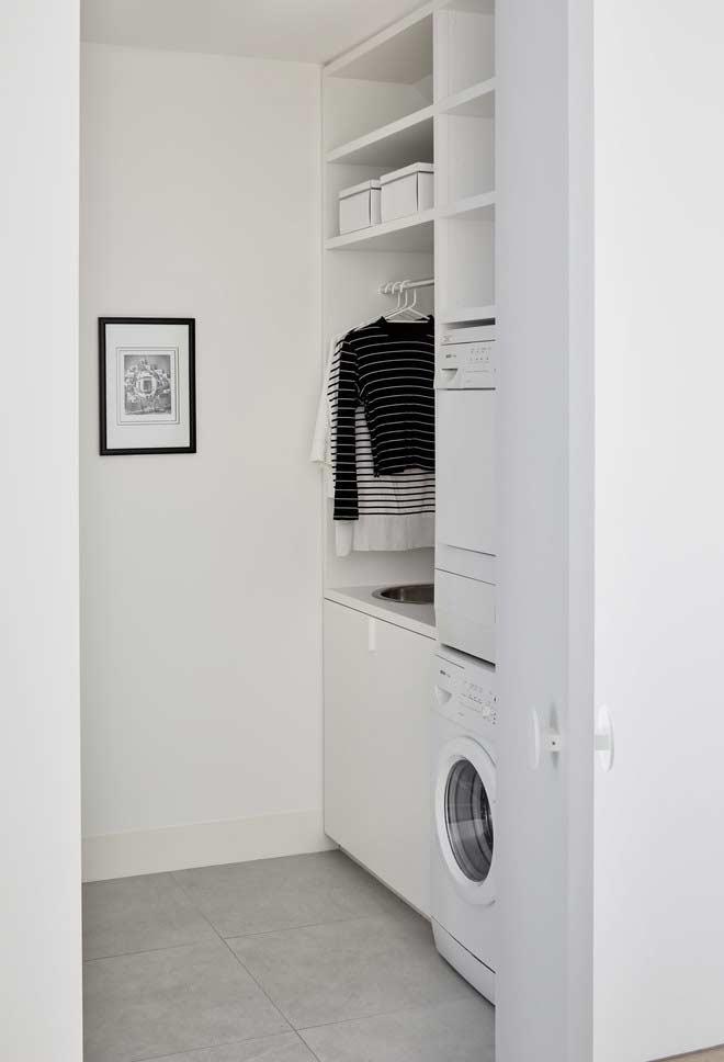 Espaço para pendurar roupas