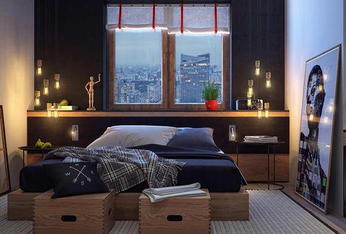 Acabamentos diferentes para trazer estilo ao quarto