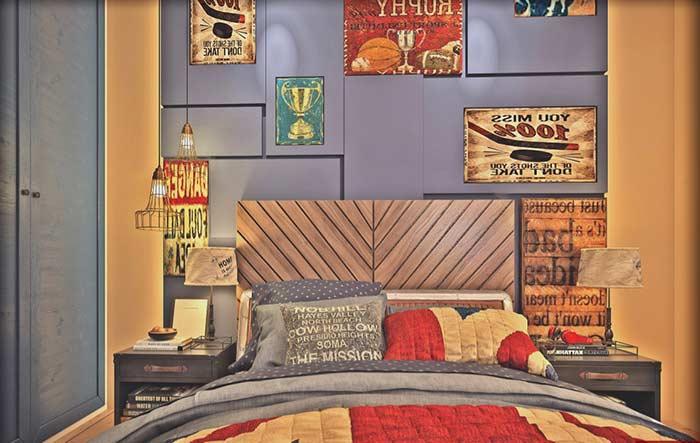 Cabeceira de madeira para quarto de solteiro