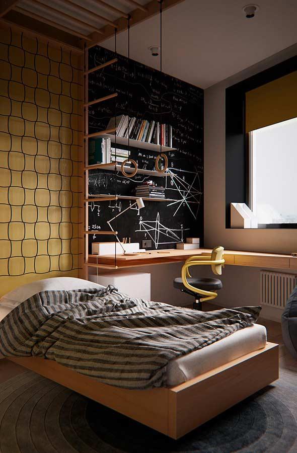 Persiana para quarto com rolo colorido