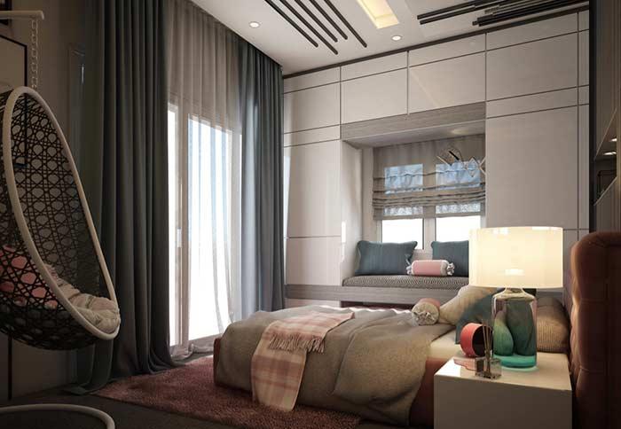 Cortina para janelas pequenas nos quartos
