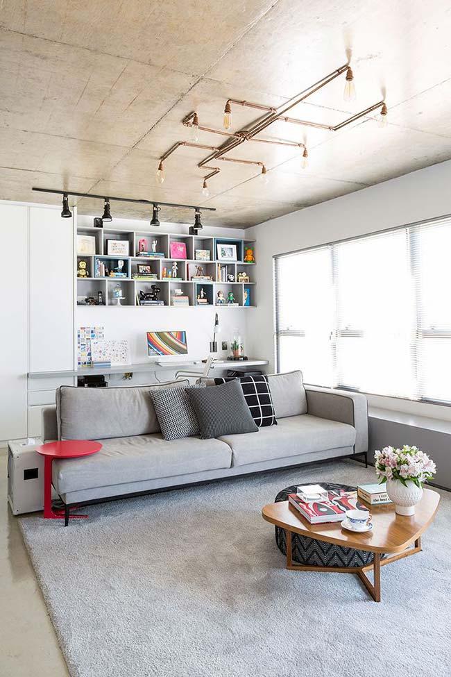 Lustre para sala com estilo industrial