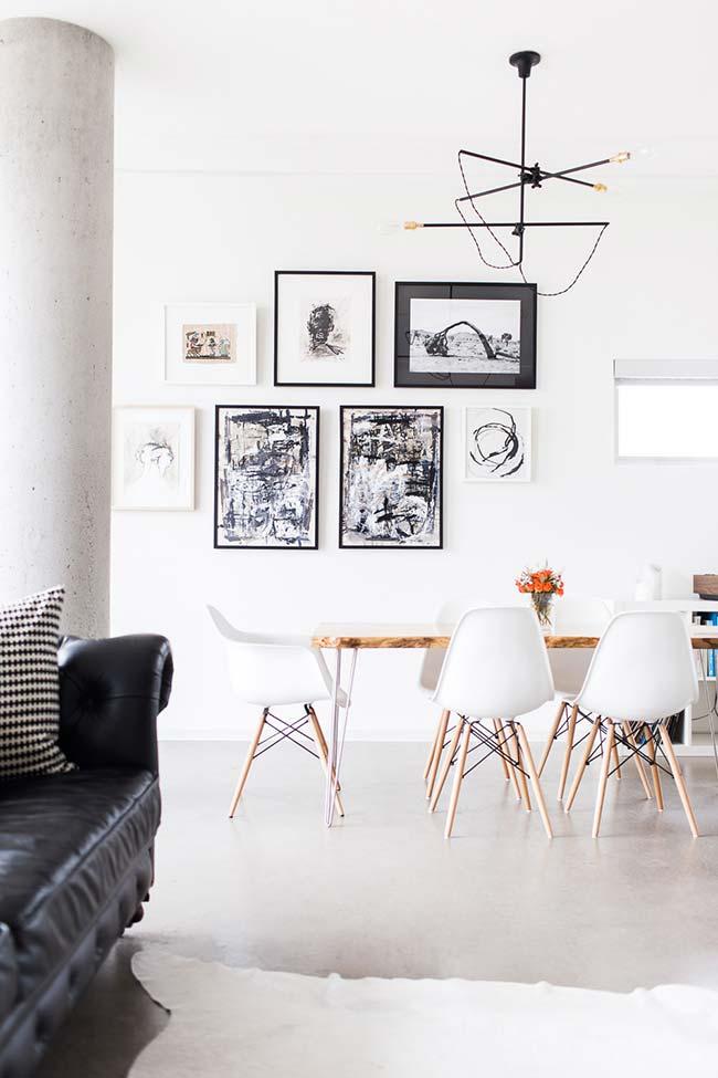 Lustre com o mesmo estilo da sala de estar