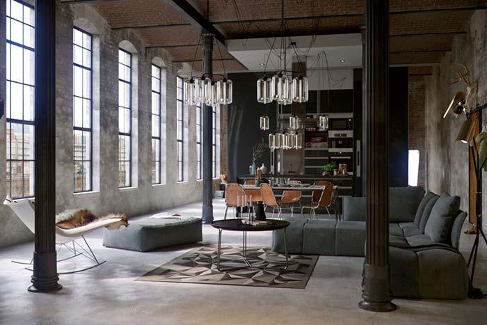 Bulbos aparentes com o estilo industrial