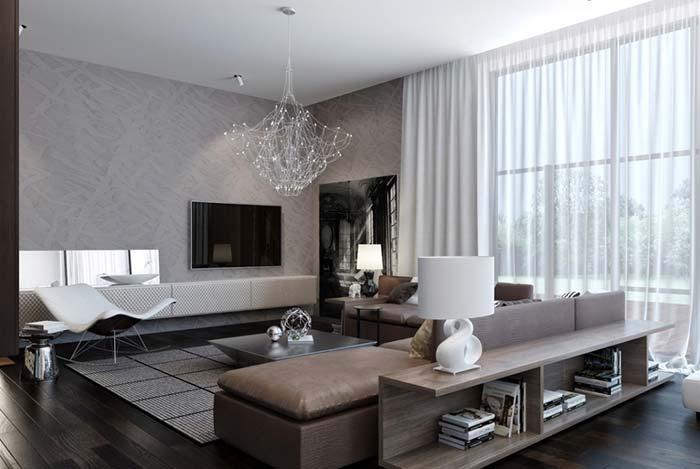 Lustre para sala proporcional ao tamanho do ambiente