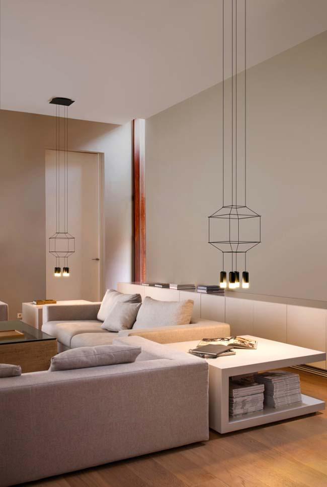 Design minimalista do lustre