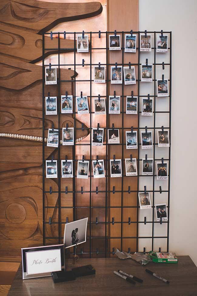 Painel de fotos em grade