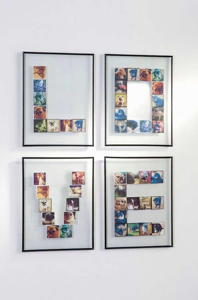 Organize suas fotos formando letras e palavras