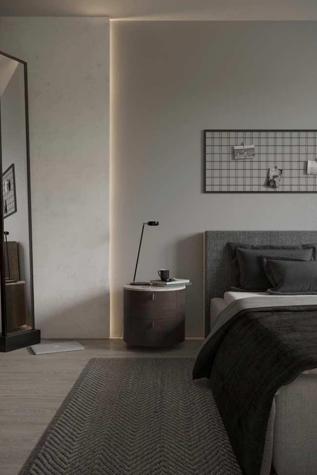 Painel no estilo industrial para o quarto