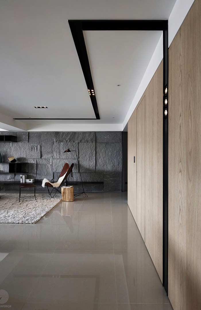 Teto de gesso vantagens tipos 60 fotos de ambientes for Ambientes minimalistas interiores