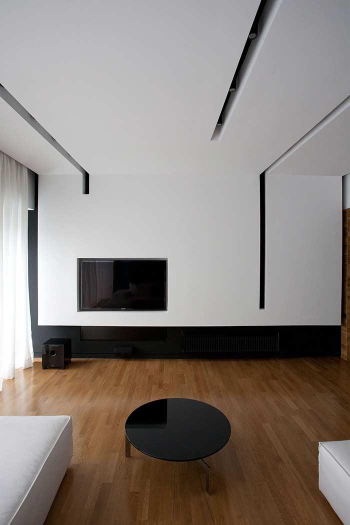 contemporaneidade na decoração com teto de gesso
