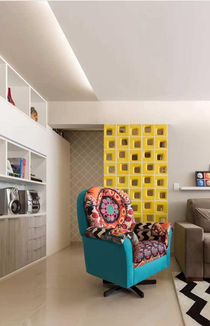 A luz indireta promove uma iluminação mais decorativa no teto de gesso