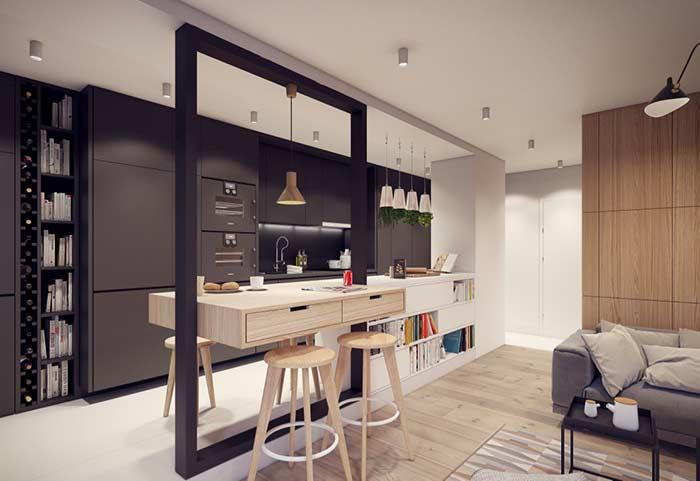 Gesso para apartamento clean e moderno