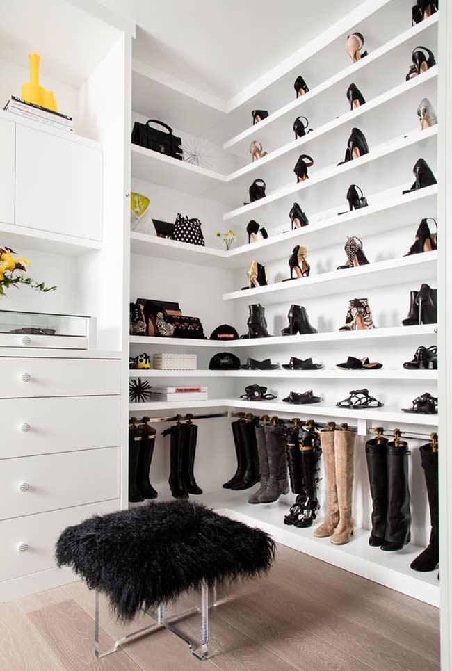 Closet planejado para sapatos