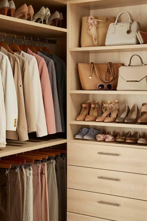 Closet planejado feminino
