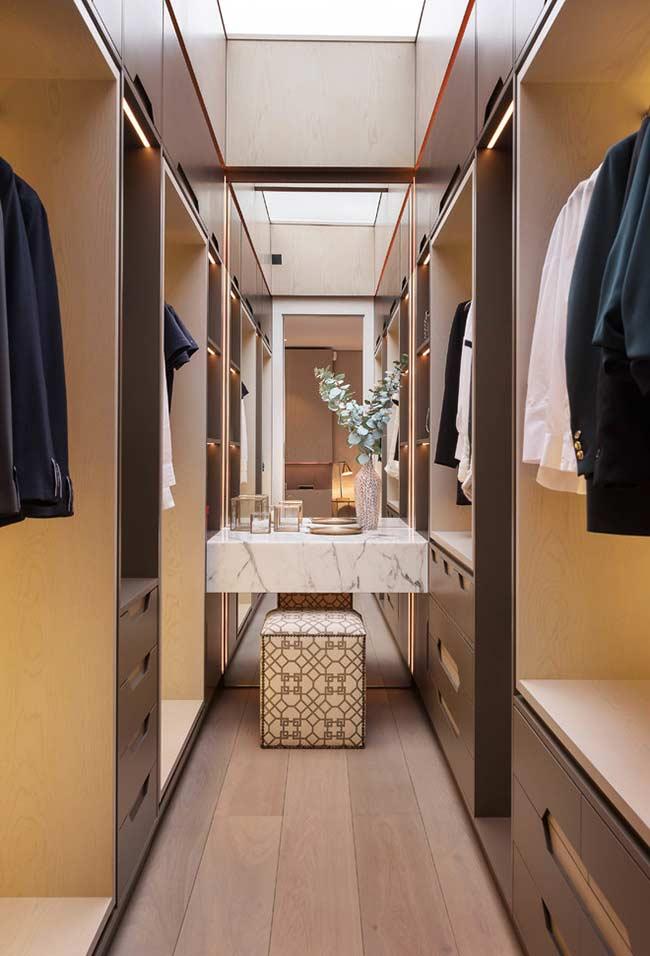 Closet tipo corredor
